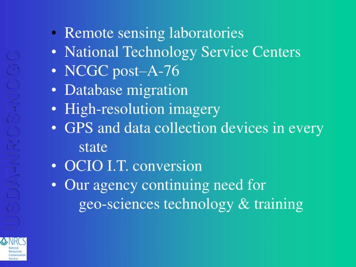 Remote sensing laboratories
