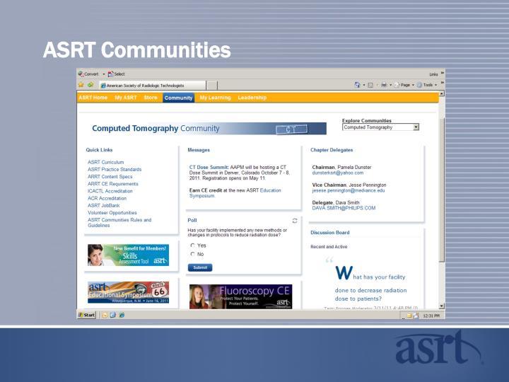 ASRT Communities