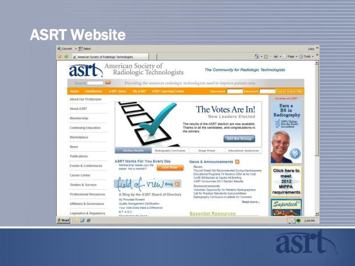 ASRT Website