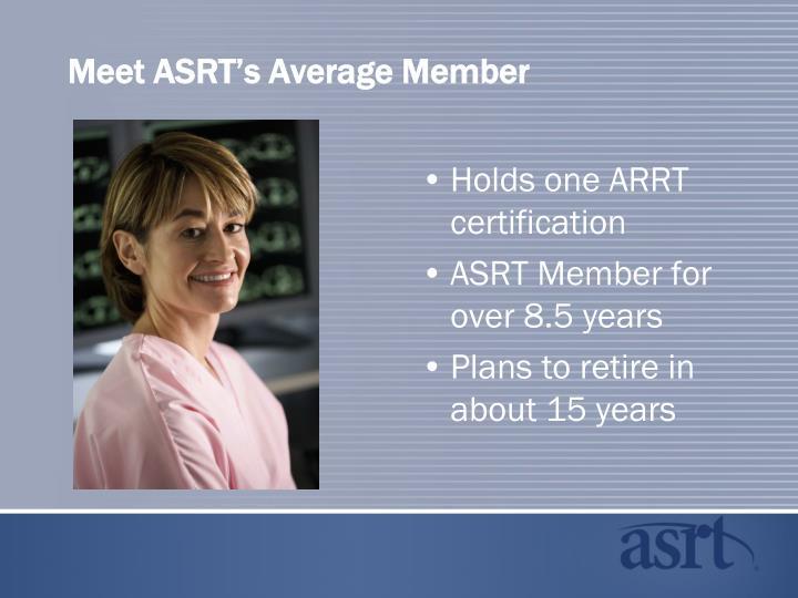 Meet ASRT's Average Member