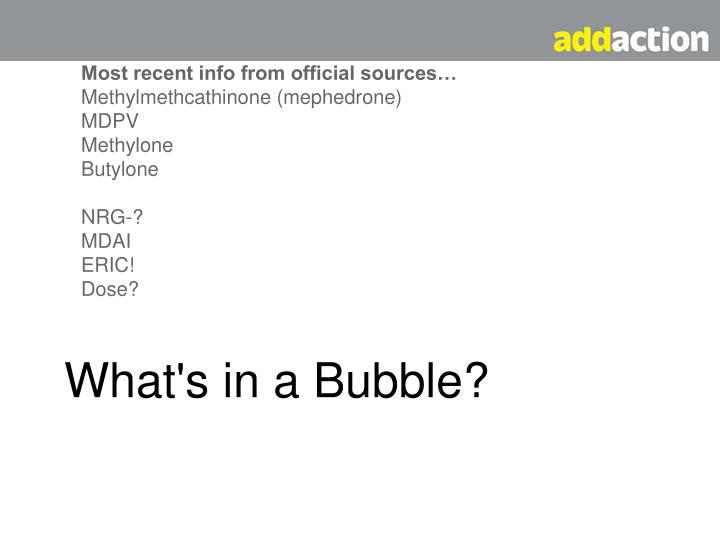 What's in a Bubble?