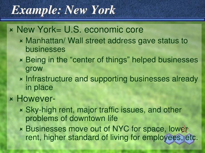 Example: New York