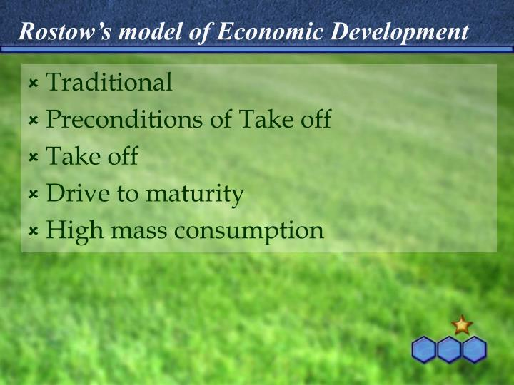 Rostow's model of Economic Development