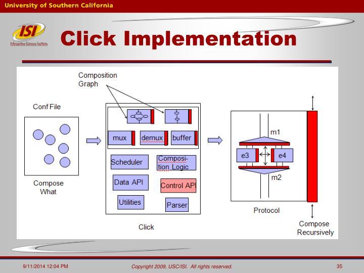 Click Implementation
