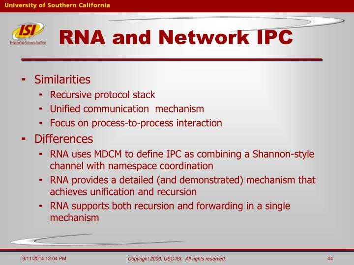 RNA and Network IPC