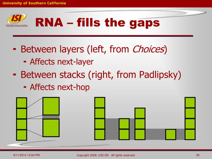 RNA – fills the gaps