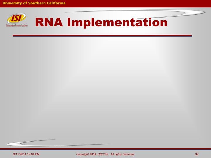 RNA Implementation