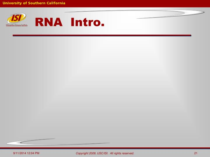 RNA  Intro.