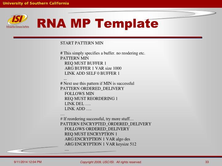 RNA MP Template