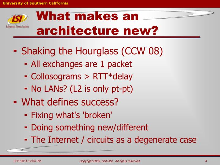 What makes an architecture new?