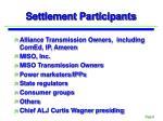 settlement participants