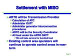 settlement with miso2