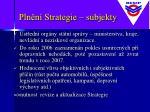 pln n strategie subjekty