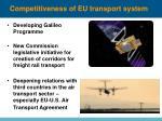competitiveness of eu transport system