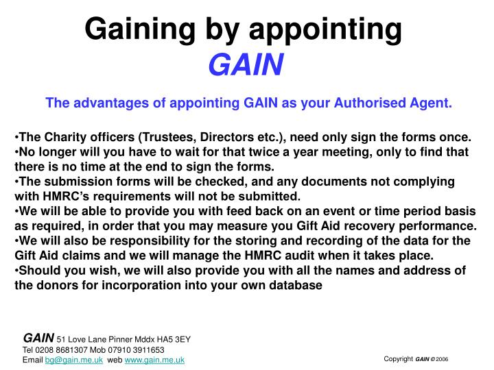Gaining by appointing