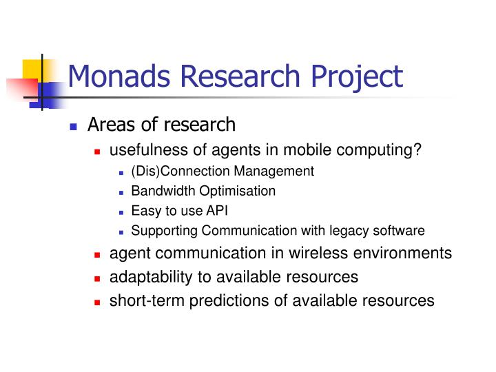 Monads research project