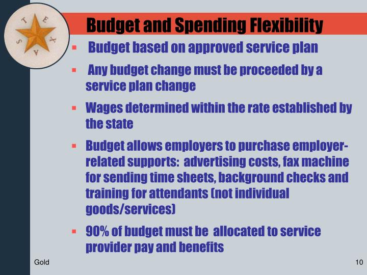 Budget and Spending Flexibility