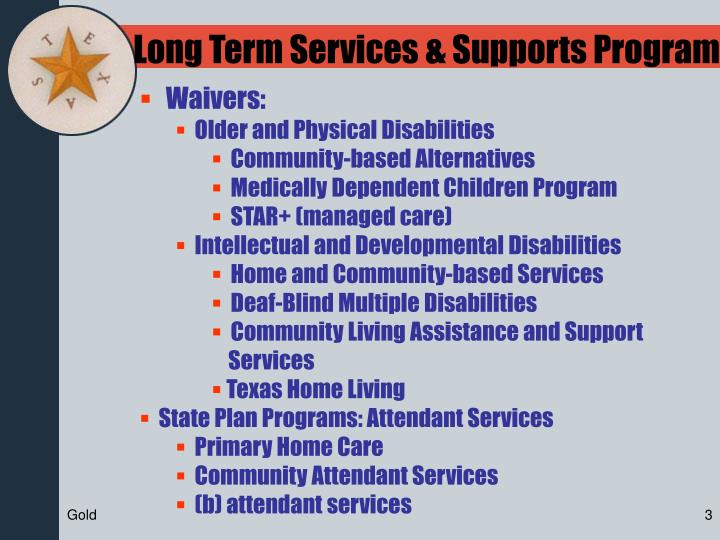 Long Term Services & Supports Program
