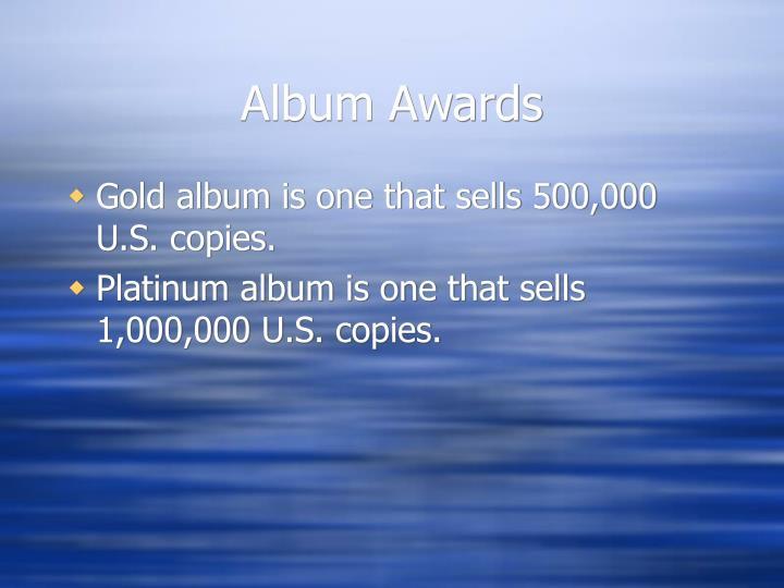 Album Awards