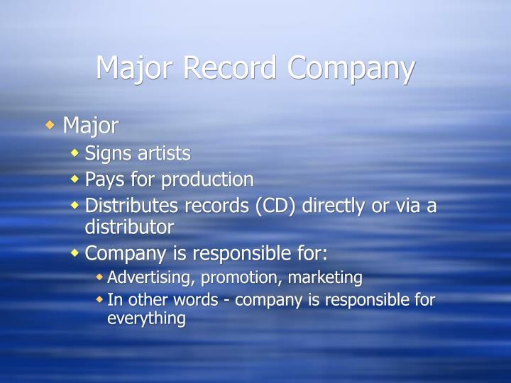 Major record company