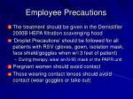 employee precautions