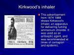 kirkwood s inhaler