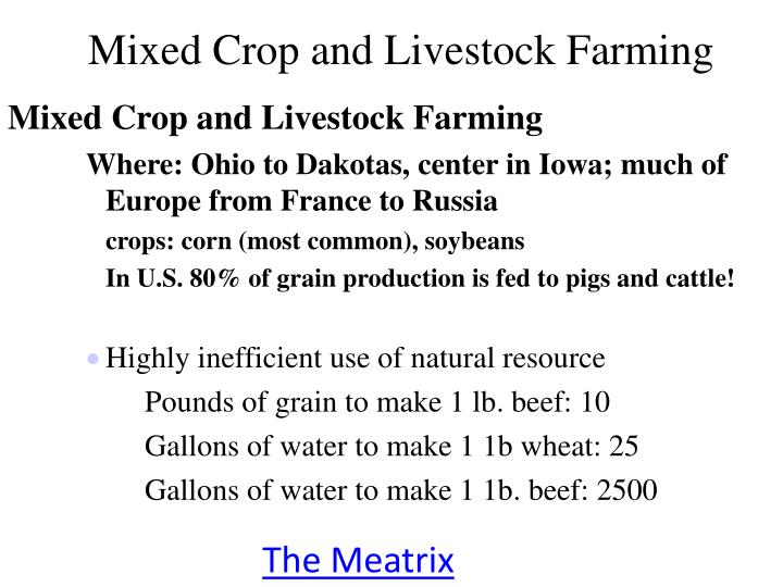 Mixed Crop and Livestock Farming