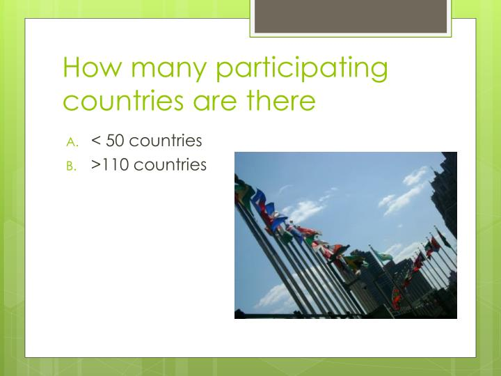 How many participating countries are there