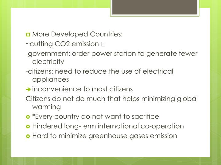 More Developed Countries: