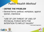 public health method