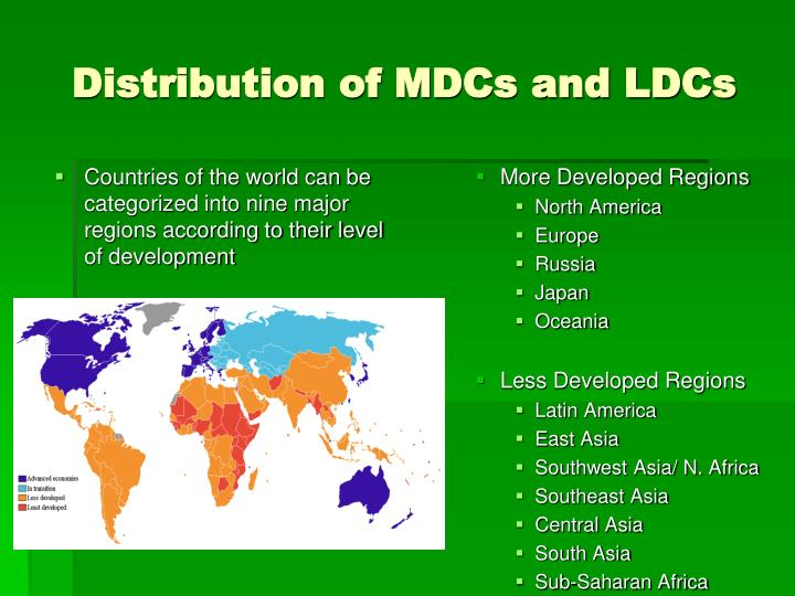 Distribution of MDCs and LDCs