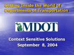 getting inside the world of departments of transportation