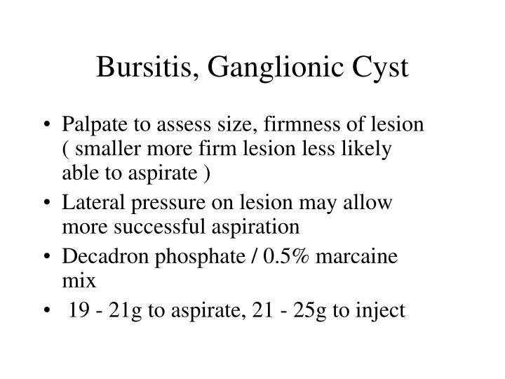 Bursitis, Ganglionic Cyst