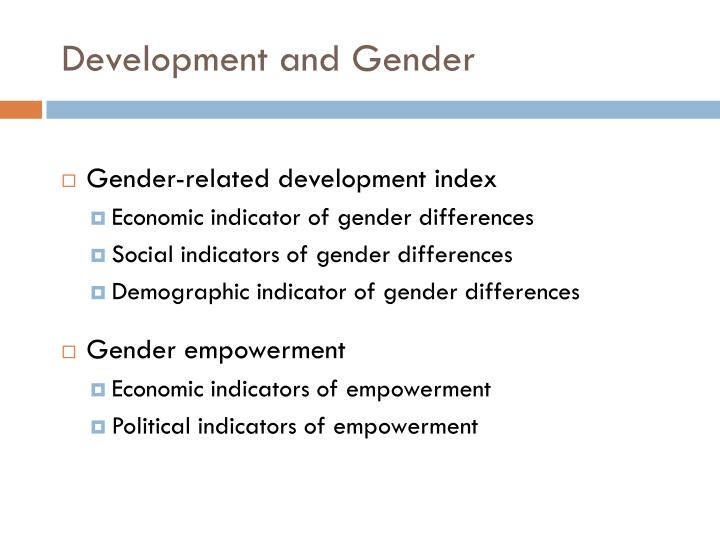 Development and Gender