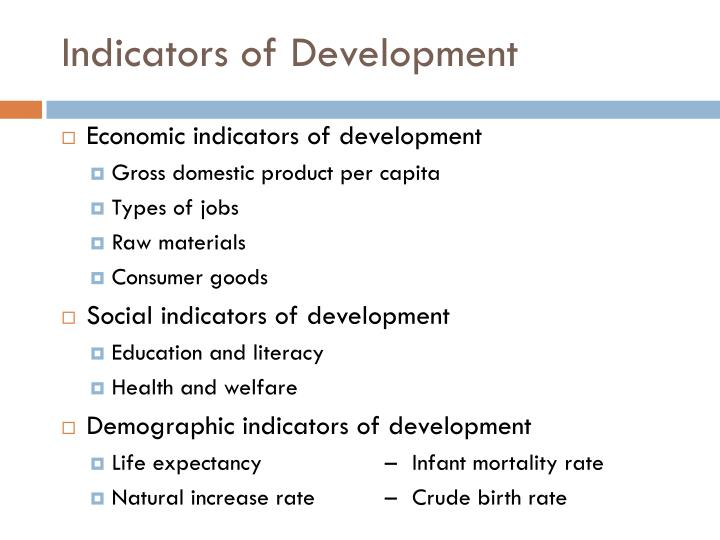Indicators of development