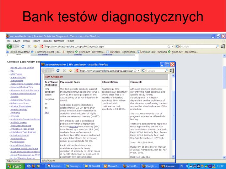 Bank testów diagnostycznych