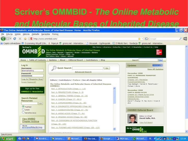 Scriver's OMMBID -
