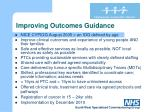 improving outcomes guidance