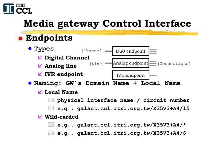 Media gateway Control Interface