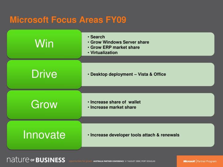 Microsoft Focus Areas FY09