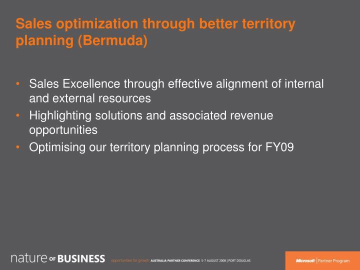 Sales optimization through better territory planning (Bermuda)