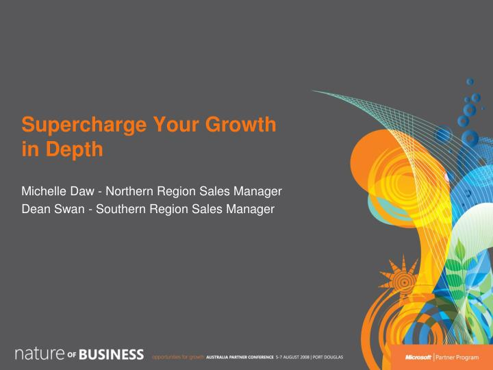 Supercharge your growth in depth