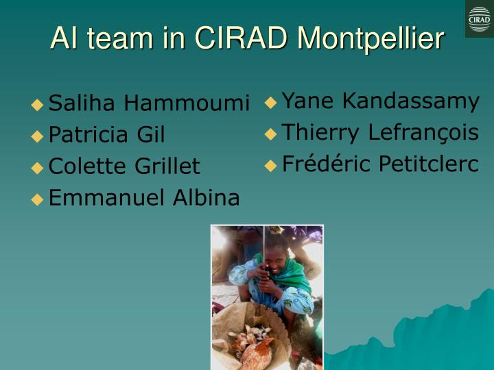 AI team in CIRAD Montpellier