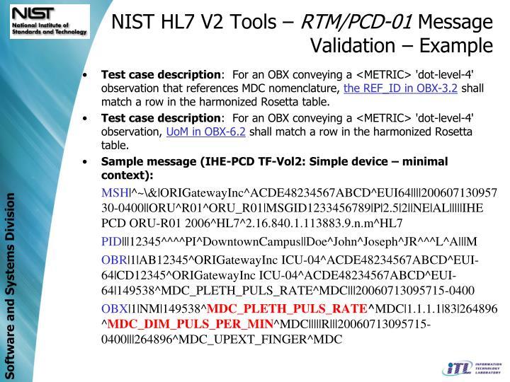 NIST HL7 V2 Tools –