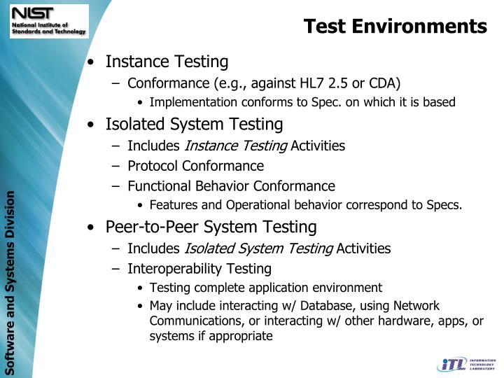 Test Environments