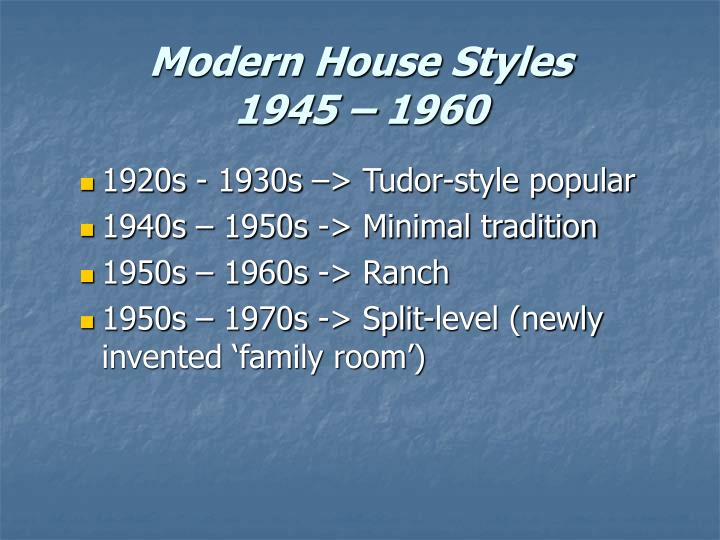 Modern House Styles