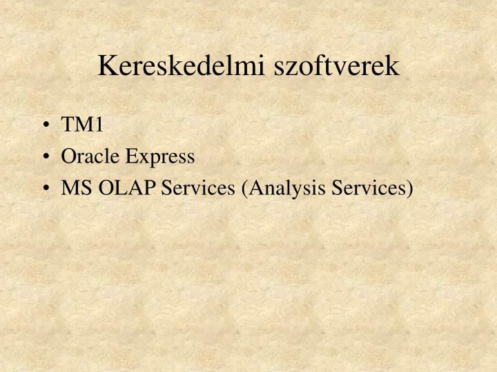 Kereskedelmi szoftverek