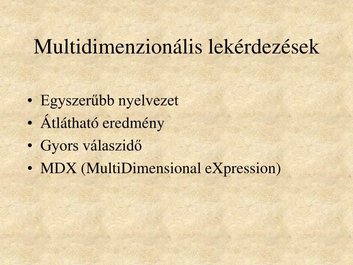 Multidimenzionáli