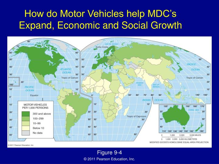 How do Motor Vehicles help MDC's Expand, Economic and Social Growth