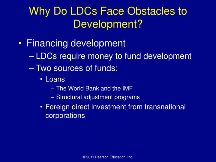 Why Do LDCs Face Obstacles to Development?